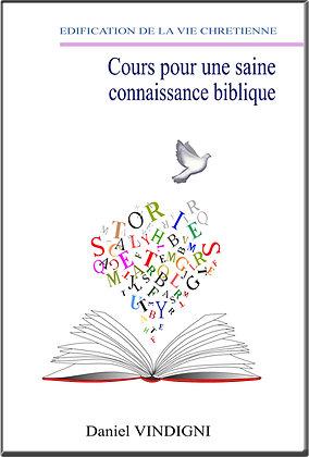 """Livre """"Cours pour une saine connaissance Biblique"""""""