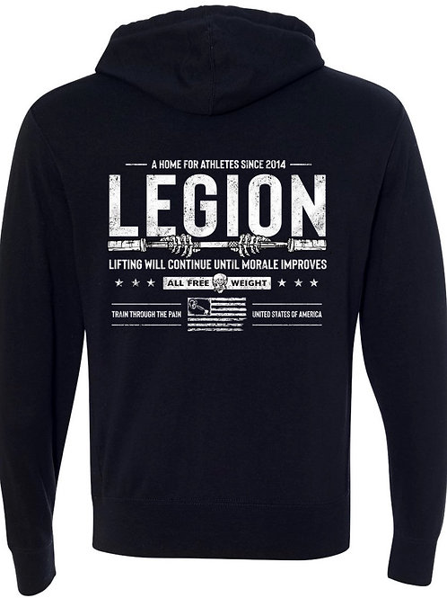 legion logo pullover or zip up