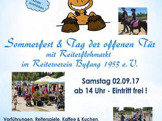 Sommerfest & Tag der offenen Tür mit Reiterflohmarkt 2017
