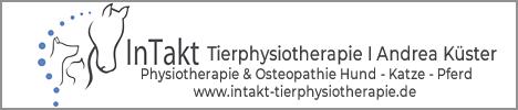 Tierphysiotherapie Intakt, Physiotherapie Osteopathie Hund Katze Pferd