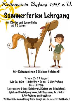Sommerferien Lehrgang 2017