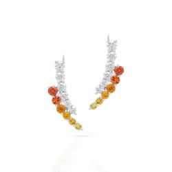 Ear Crawlers with Yellow-Orange Gradient