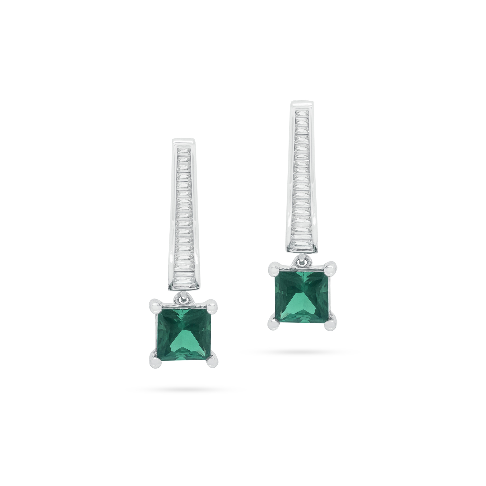 Blue-Green Tourmaline Earrings