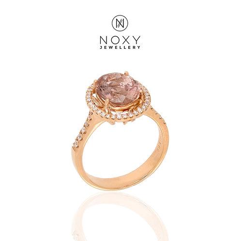 Morganite Rose Gold Ring (SOLD)