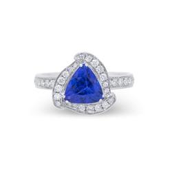 Trilliant Tanzanite Ring