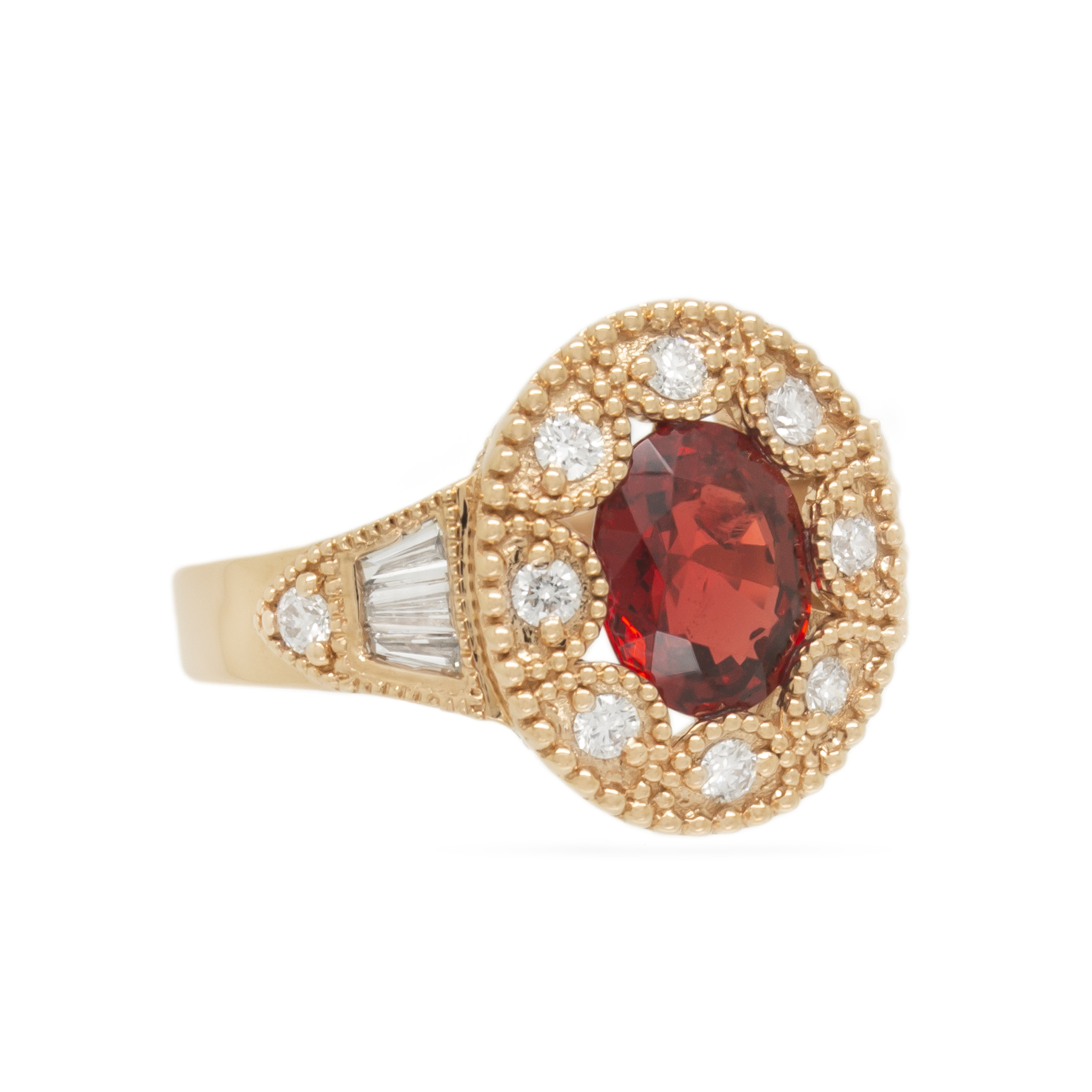 Vintage-inspired Red Spinel Engagement R