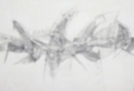 31. Поток. 2015, бумага, карандаш, 70х10