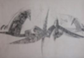 32. Поток. 2015, бумага, карандаш, 70х10