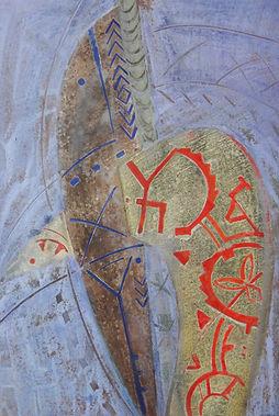 20. Оберег. 2015, бумага, гуашь, пастель
