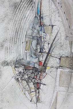 56. Ad modum.  2010, бумага, акварель, т
