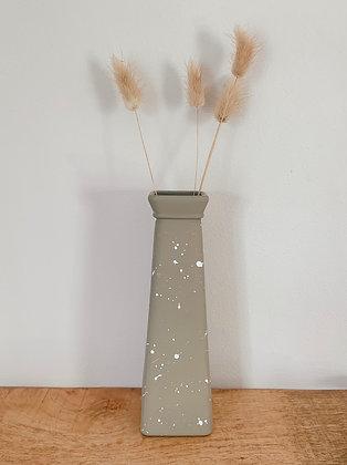 Khaki Speckle Triangle Vase