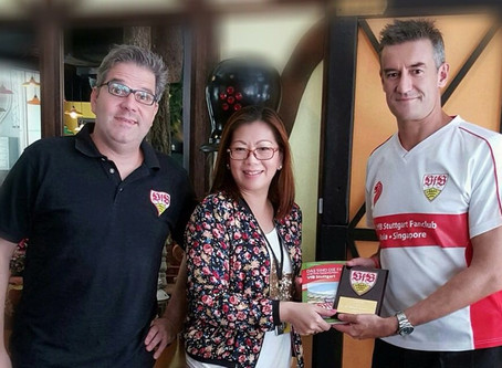 VfB Stuttgart and 1. VfB Stuttgart Fanclub Asia (Singapore) now present at Stuttgart Blackforest Bou