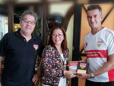 VfB Stuttgart and 1. VfB Stuttgart Fanclub Asia (Singapore) now present at Stuttgart Blackforest Bou