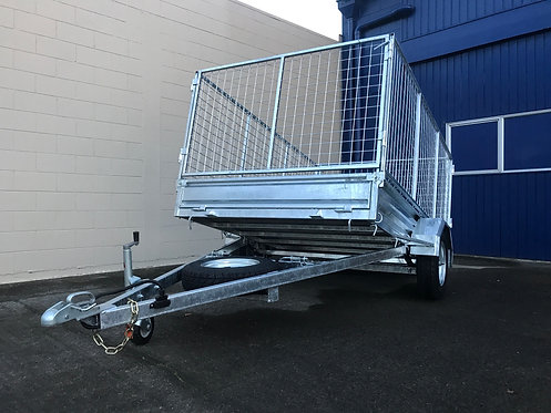 8x5 ORION Single AXLE TIPPER Trailer.  Rated 1380kg (Crate sold separately)