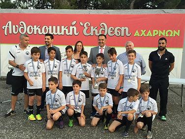 Βράβευση των juniors της Αναγέννησης για την κατάκτηση της πρώτης θέσης στο πρωτάθλημα 2016-17