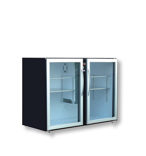 BOTTLE COOLER FA1200 2 x 2DX GLASS