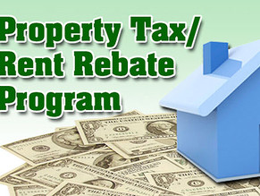 Property Tax/Rent Rebate Program Application Deadline Extended to End of Year