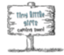 blank sign tiny little gifts aka font.pn