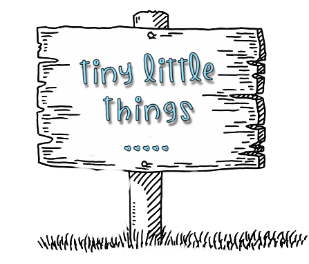 blank sign tiny little things aka and ba
