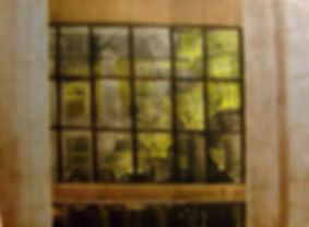 """Inside/Outside-Wall Street...22""""x30""""...collagraph"""