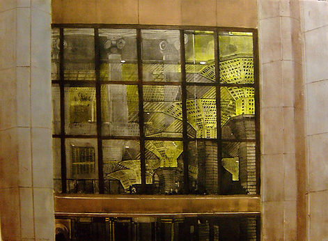 "Inside/Outside-Wall Street...22""x30""...collagraph"