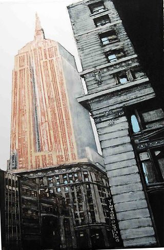 "Empire State...22""x15""...collagraph"