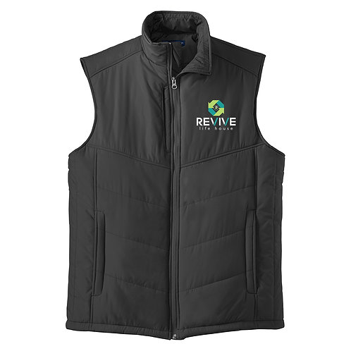 Mens Black Puffer Vest