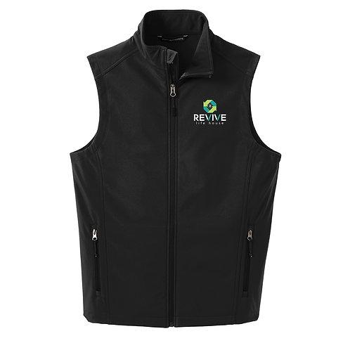 Mens Black Soft Shell Vest