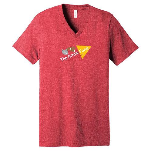 TAF Red Heather V-neck
