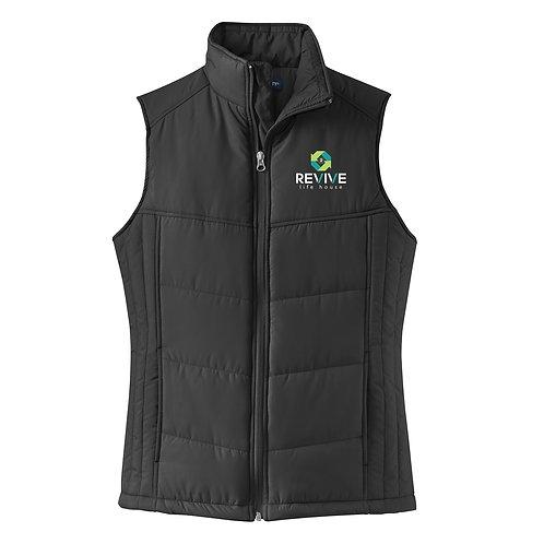 Ladies Black Puffer Vest