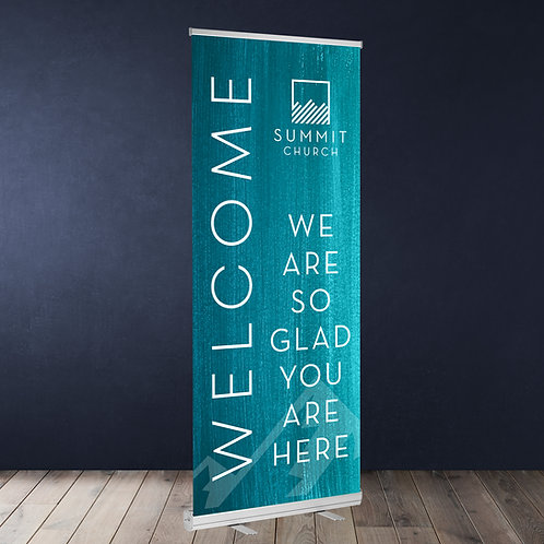 "Standard Retractable Banner 33"" X 81"""