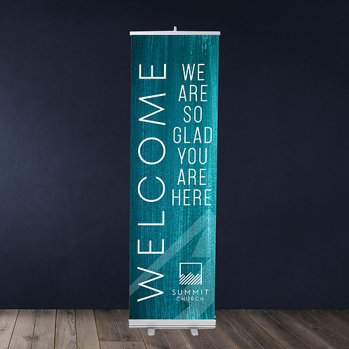 "Standard Retractable Banner 24"" X 81"""