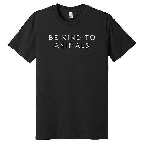 Be Kind To Animals Black Tee