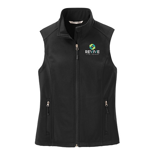 Ladies Black Soft Shell Vest