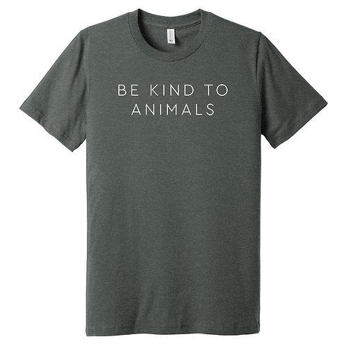 Be Kind To Animals Grey Tee