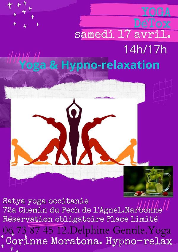 atelier Yoga détox hypno-relaxation