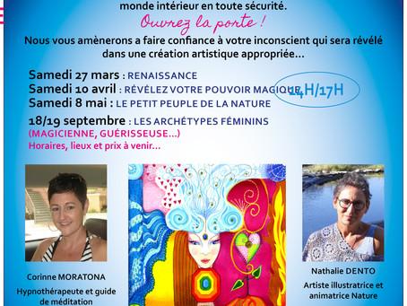 Hypno-méditation créative. Nathalie Dento&Corinne Moratona