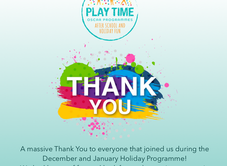 A massive Play Time Thank You!