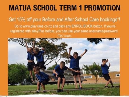Matua School Term 1 Promotion!