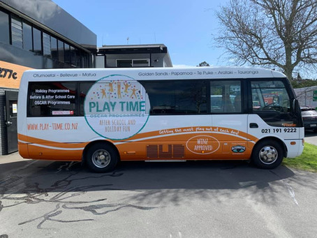 Thanks to Alternative Graphics and Design, us and the children are super excited about our new coach