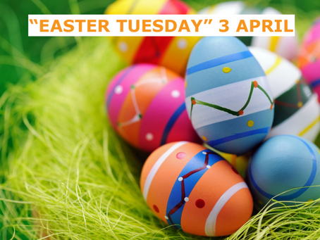 """Easter Tuesday"" April 3 is a School Holiday"