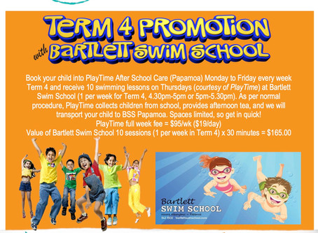 PlayTime Papamoa Programmes Term 4 Promotion