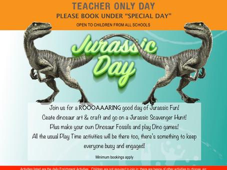Teacher Only Day programme - 3 July