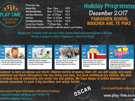 Matua and Fairhaven Holiday Programmes