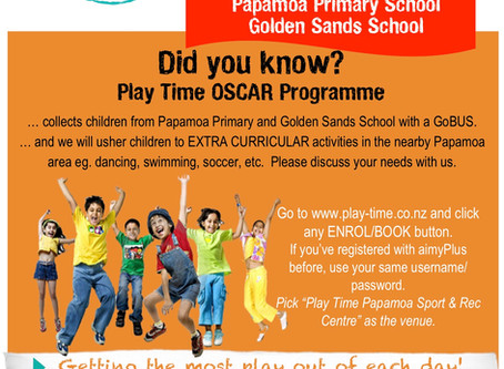 Play Time Papamoa Sport and Rec Centre - GoBus Pick Up and Extra Curricular Service