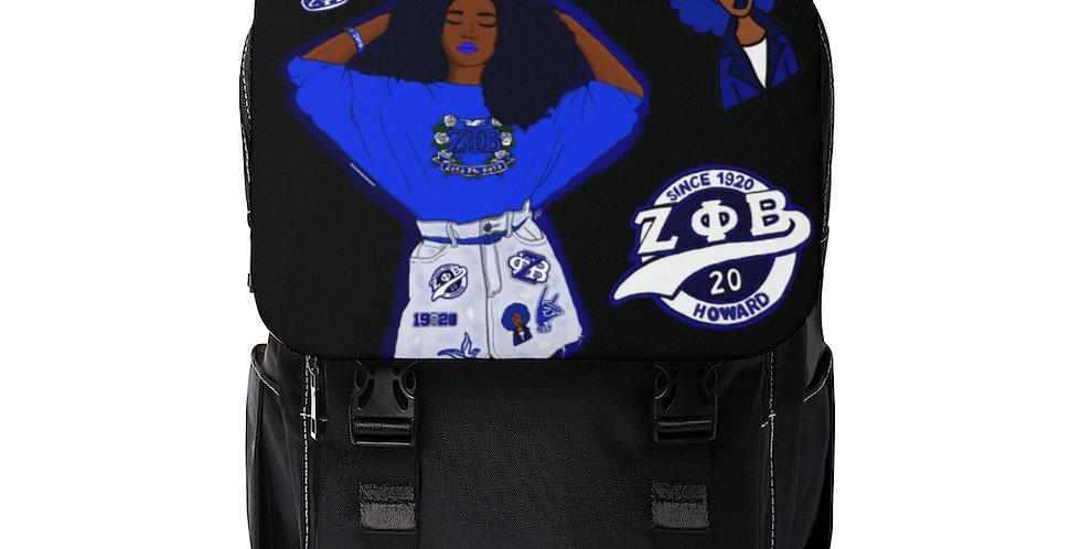 Zeta Centennial Shoulder Backpack (Black)