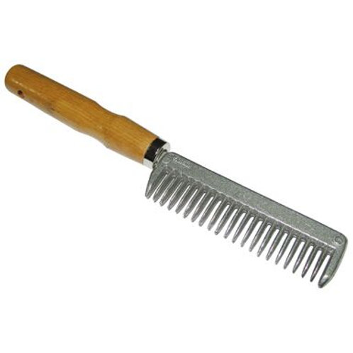 Metal Pulling Comb With Wooden Handle