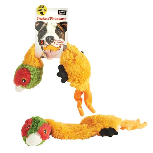 Shake a Pheasant Dog Toy Soft Plush Sharples 'n' Grant Squeaker