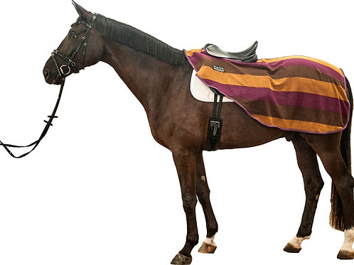 HKM Colour Stripes Fleece Ride On Rug