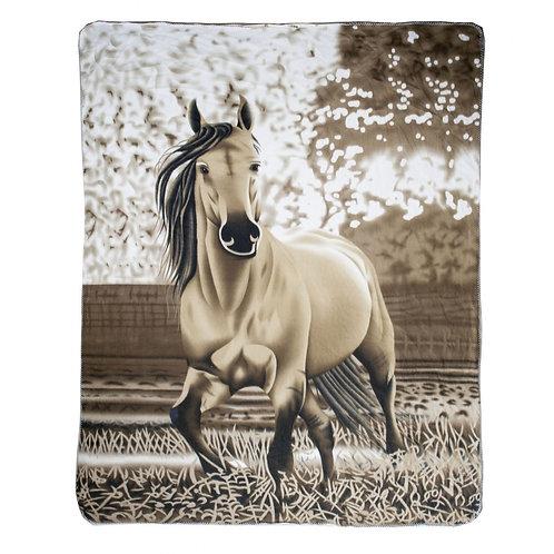 HKM Falbe Fleece Blanket Throw